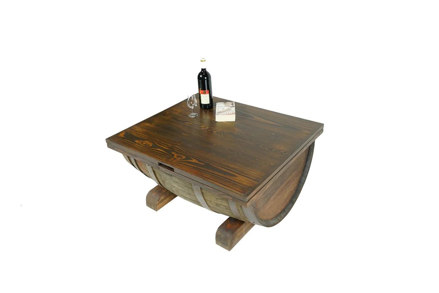 barrel coffee table