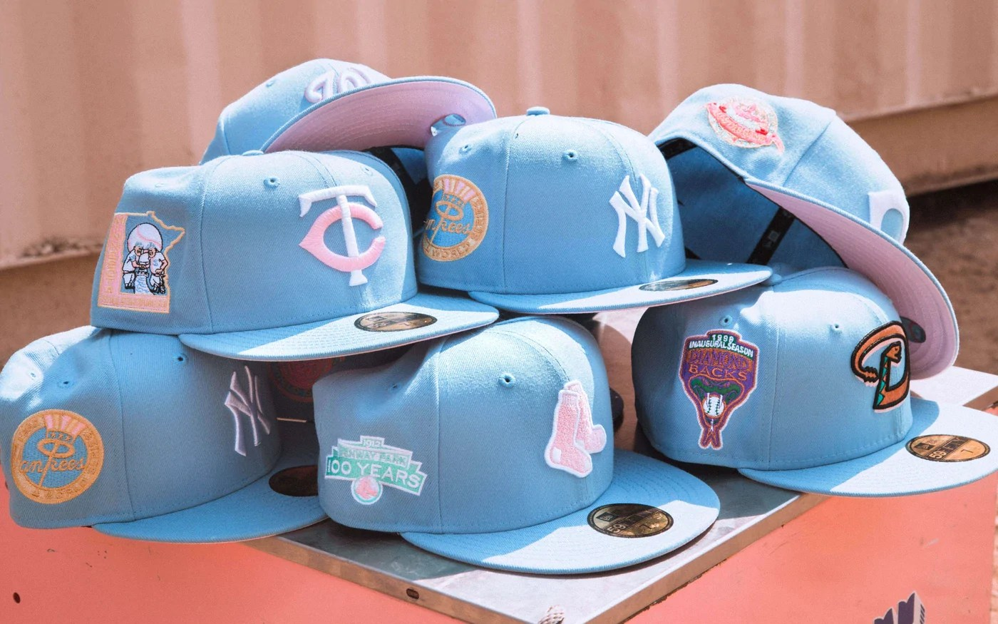 Cotton Candy Fitted Hats From Hat Club