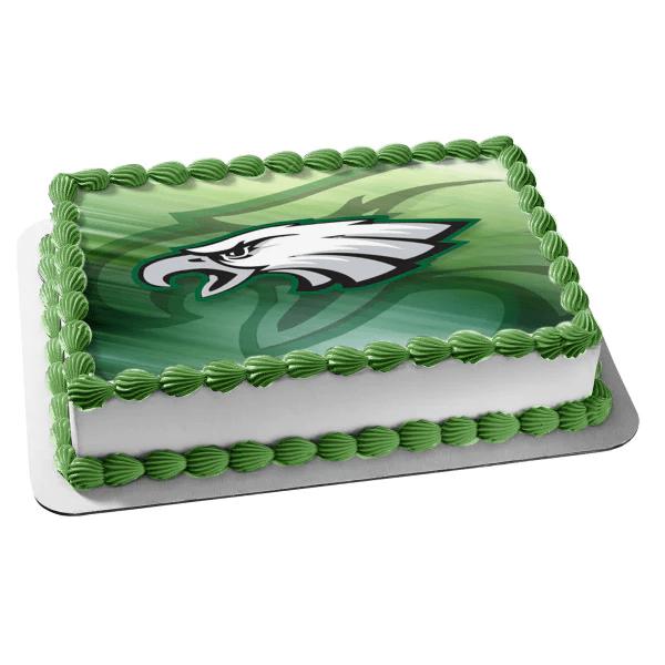 Philadelphia Eagles Logo Nfl Edible Cake Topper Image Abpid05232 A Birthday Place