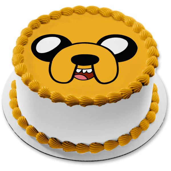 Adventure Time Jake The Dog Edible Cake Topper Image Abpid08968 A Birthday Place