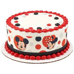 Mickey Mouse And Minnie Mouse Edible Cake Topper Image Strips A Birthday Place
