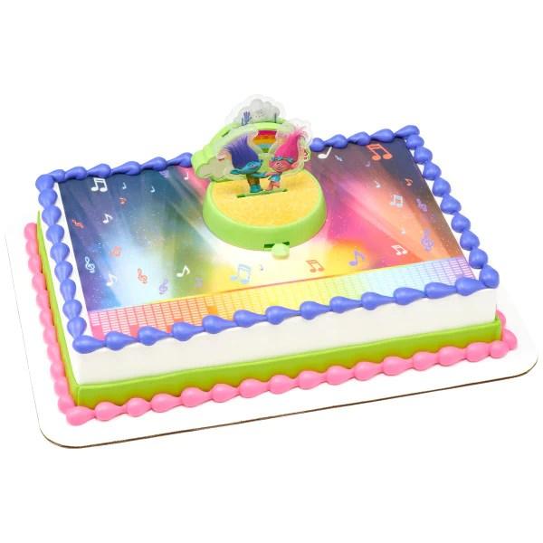Dreamworks Trolls World Tour Edible Cake Topper Image Decoset Backgro A Birthday Place