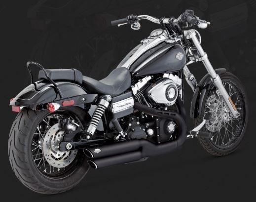 vance hines twin slash 3 round slip ons exhaust system 08 14 harley davidson dyna fxdf fat bob 10 14 fxdwg dyna wide glide