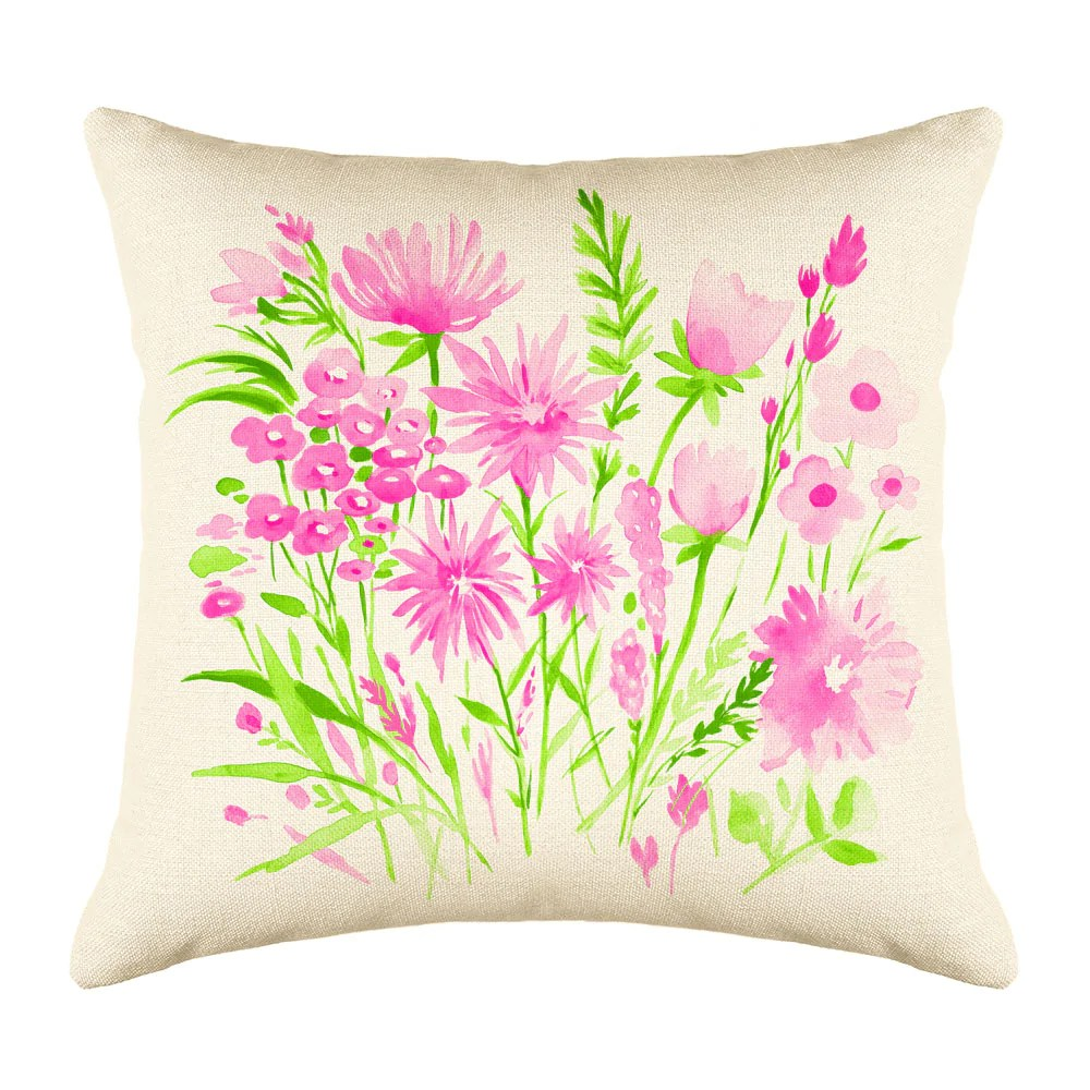pink and green botanical floral throw pillow cover decorative designs throw pillow cover collection