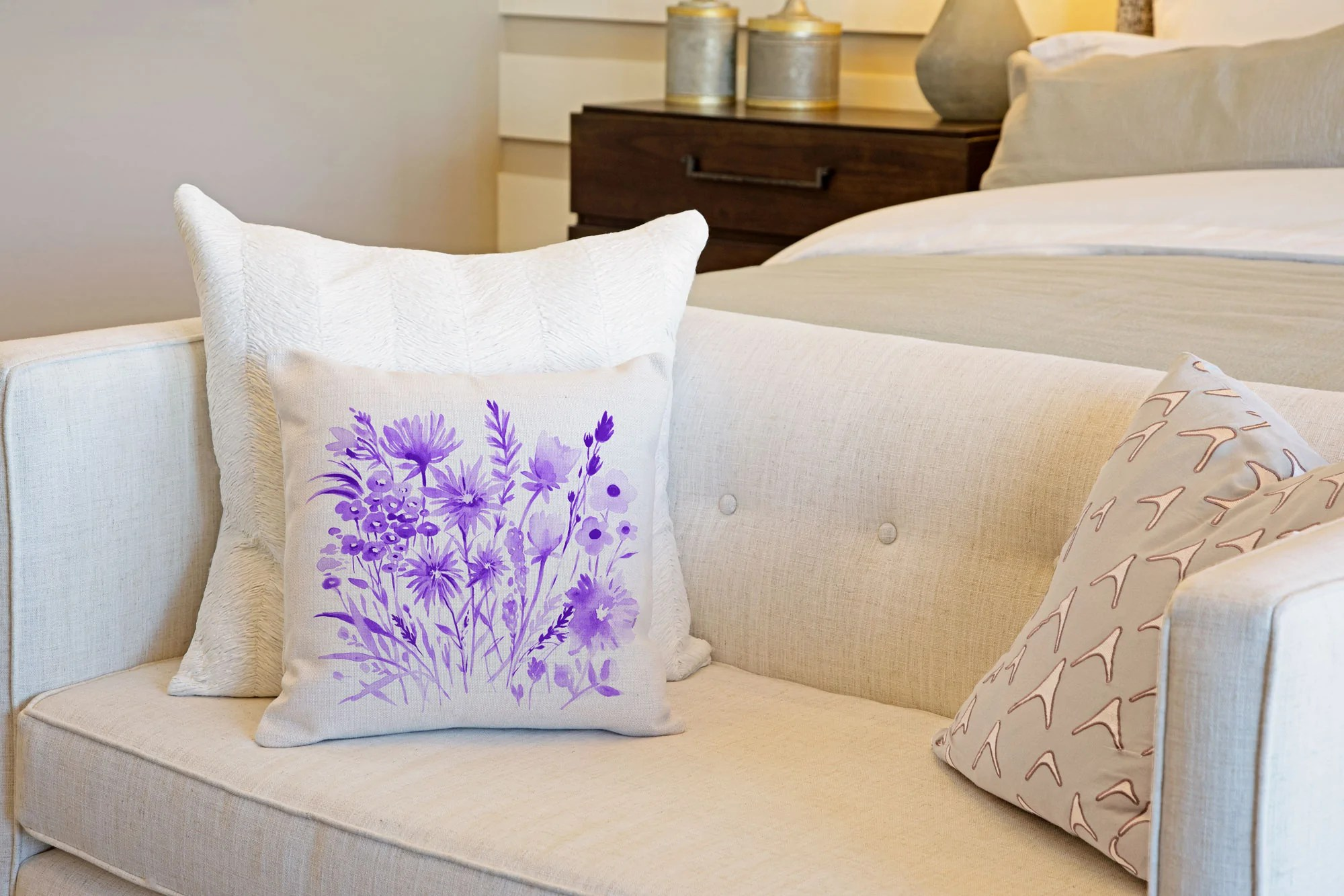 purple botanical floral throw pillow cover decorative designs throw pillow cover collection