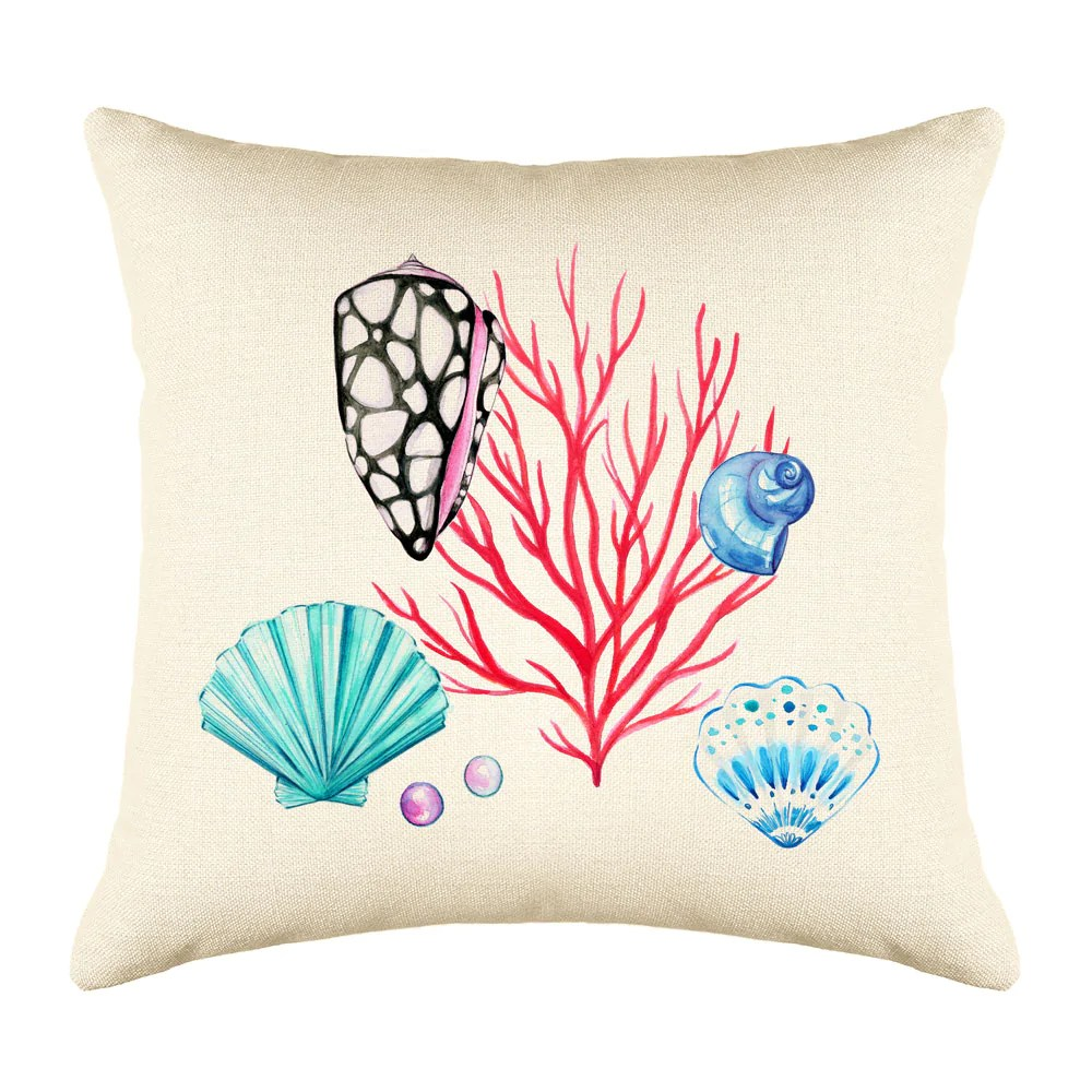 coral reef throw pillow cover coastal designs throw pillow cover collection