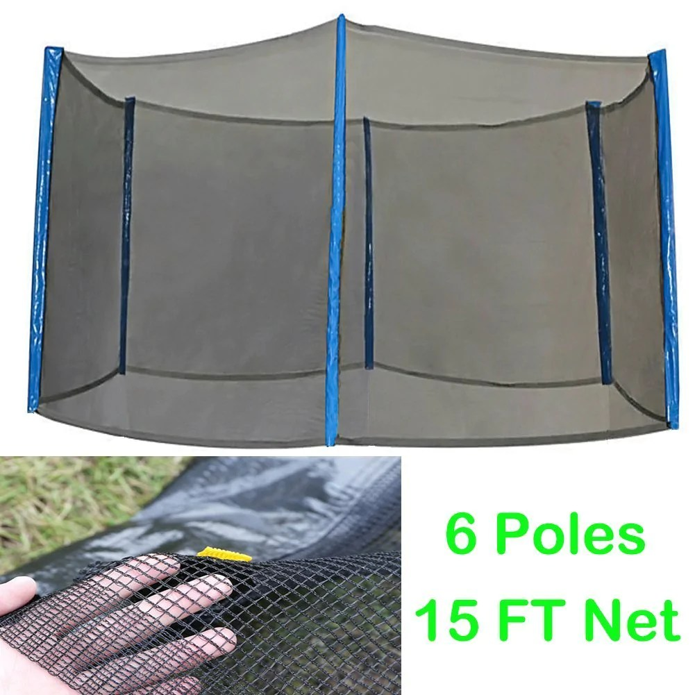 Zupapa Trampoline Net Enclosure Replacement 15ft Feet