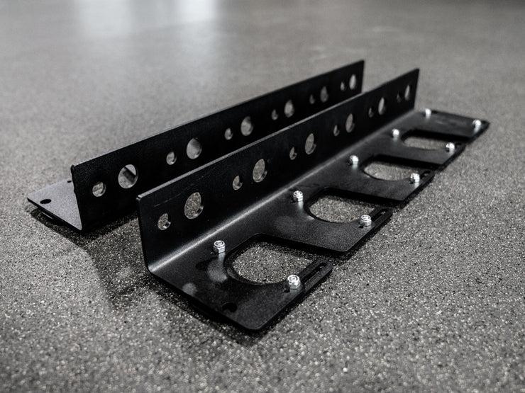 wall mounted gun rack 4 bar storage