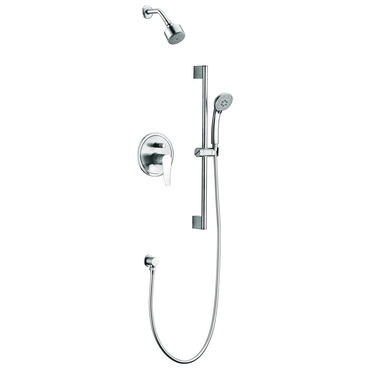 Dawn Everglades Series Shower Combo Set Wall Mounted Showerhead With Slide Bar Handheld Shower
