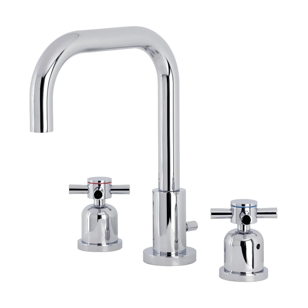 kingston brass concord deck mount widespread bathroom faucet with brass pop up