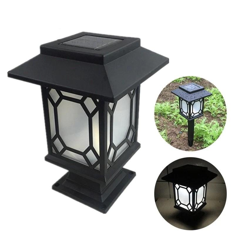 Lampe Solaire Pour Pilier De Portail Et Poteau Green Solaire