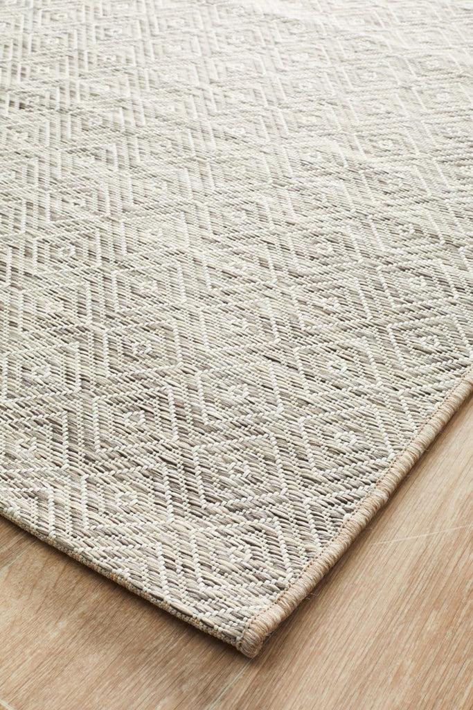 cordoba natural stone grey diamond rug