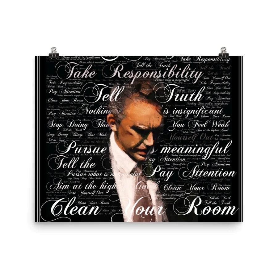 jordan b peterson quote art poster