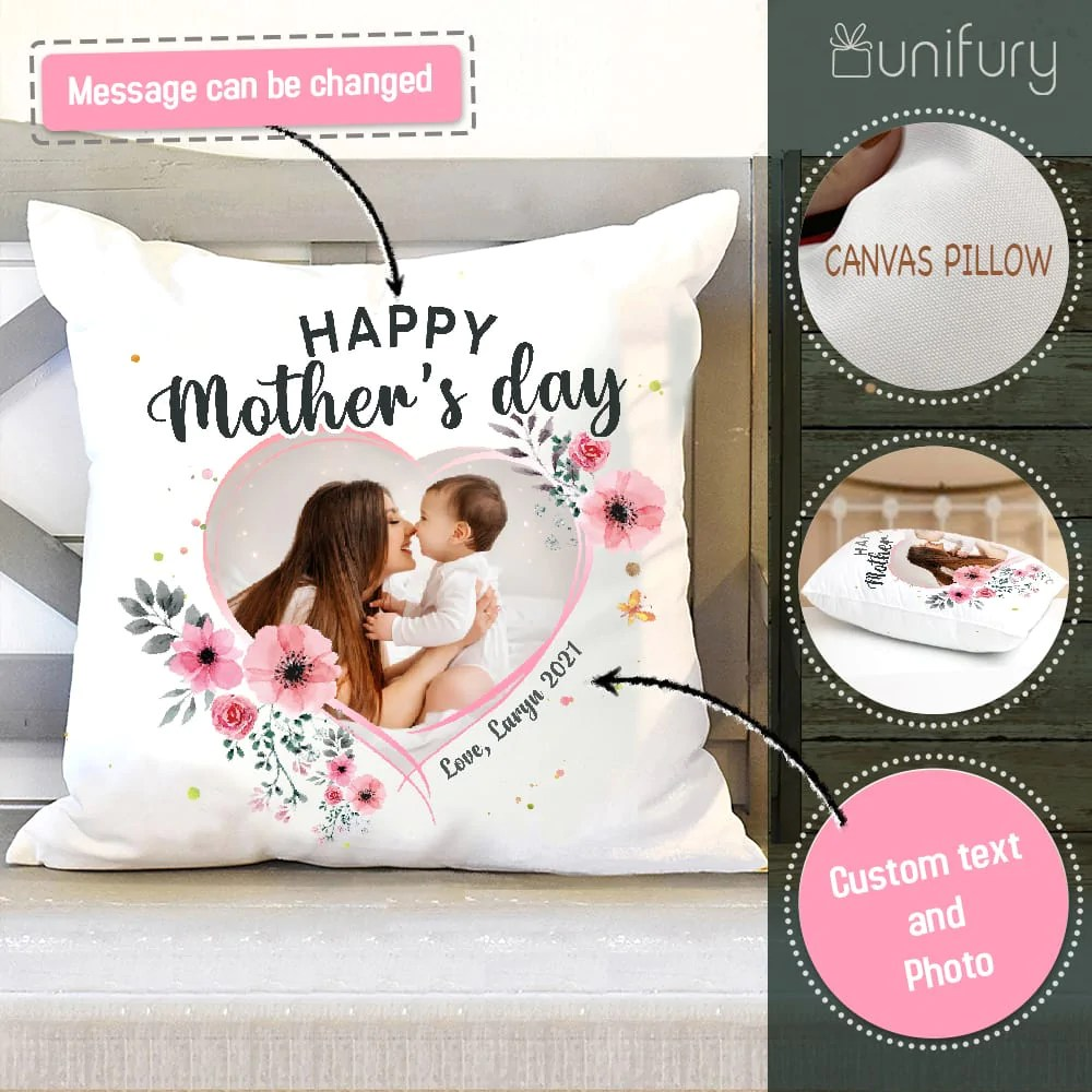 personalized mother s day pillow gifts for mom custom photo