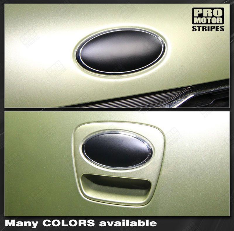 Kia SOUL 2012 2016 Front Amp Rear Emblem Blackout Overlay Decals 1322294 Pro Motor Stripes