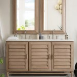60 Portland Whitewashed Walnut Double Bathroom Vanity