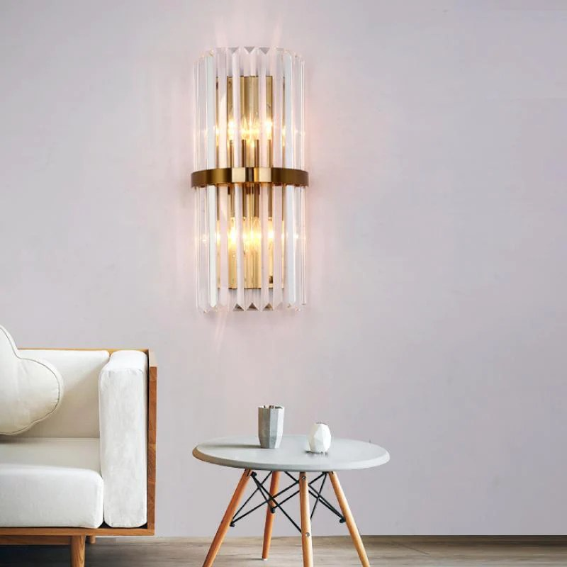 crystal wall sconce lighting fixture