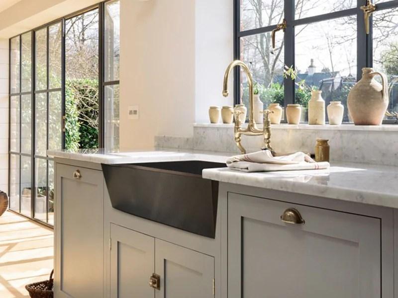 043 copper farmhouse kitchen sink zuma design 33 x 22 x 10 5