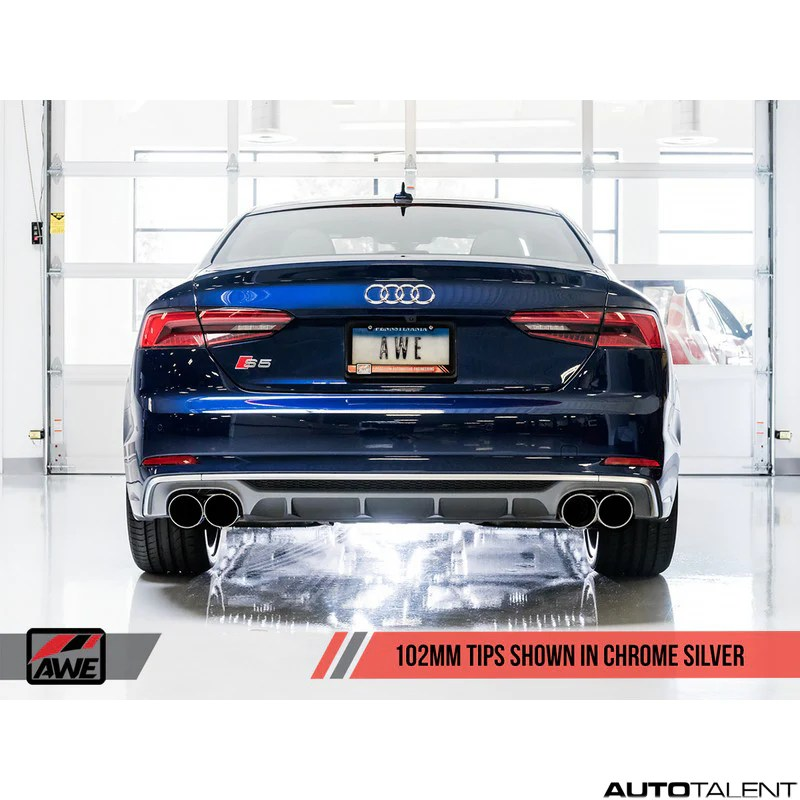 awe tuning touring edition cat back exhaust system audi s5 coupe b9 2018