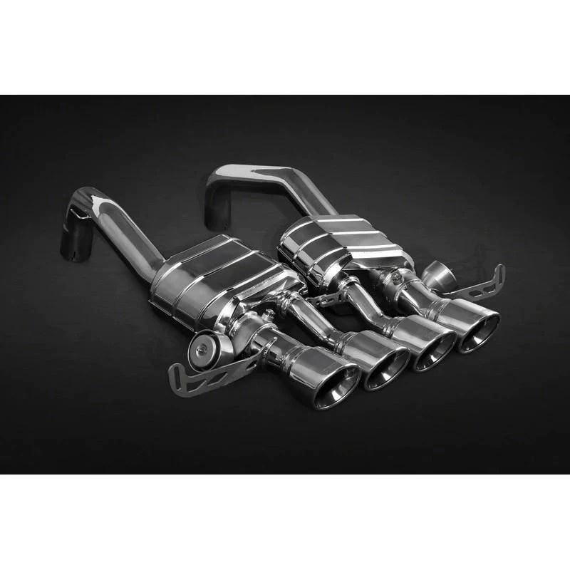 capristo exhaust cat back system for chevrolet corvette z06 2014 2019