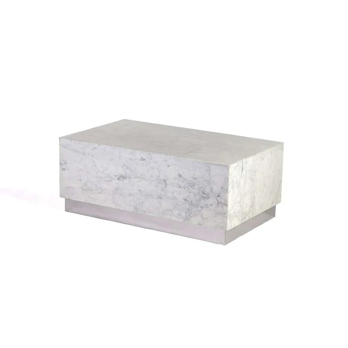 carrera marble kubik coffee table large
