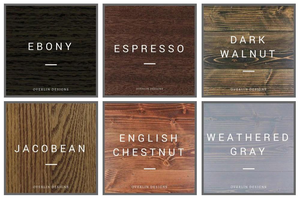 Espresso Stain Chart Color