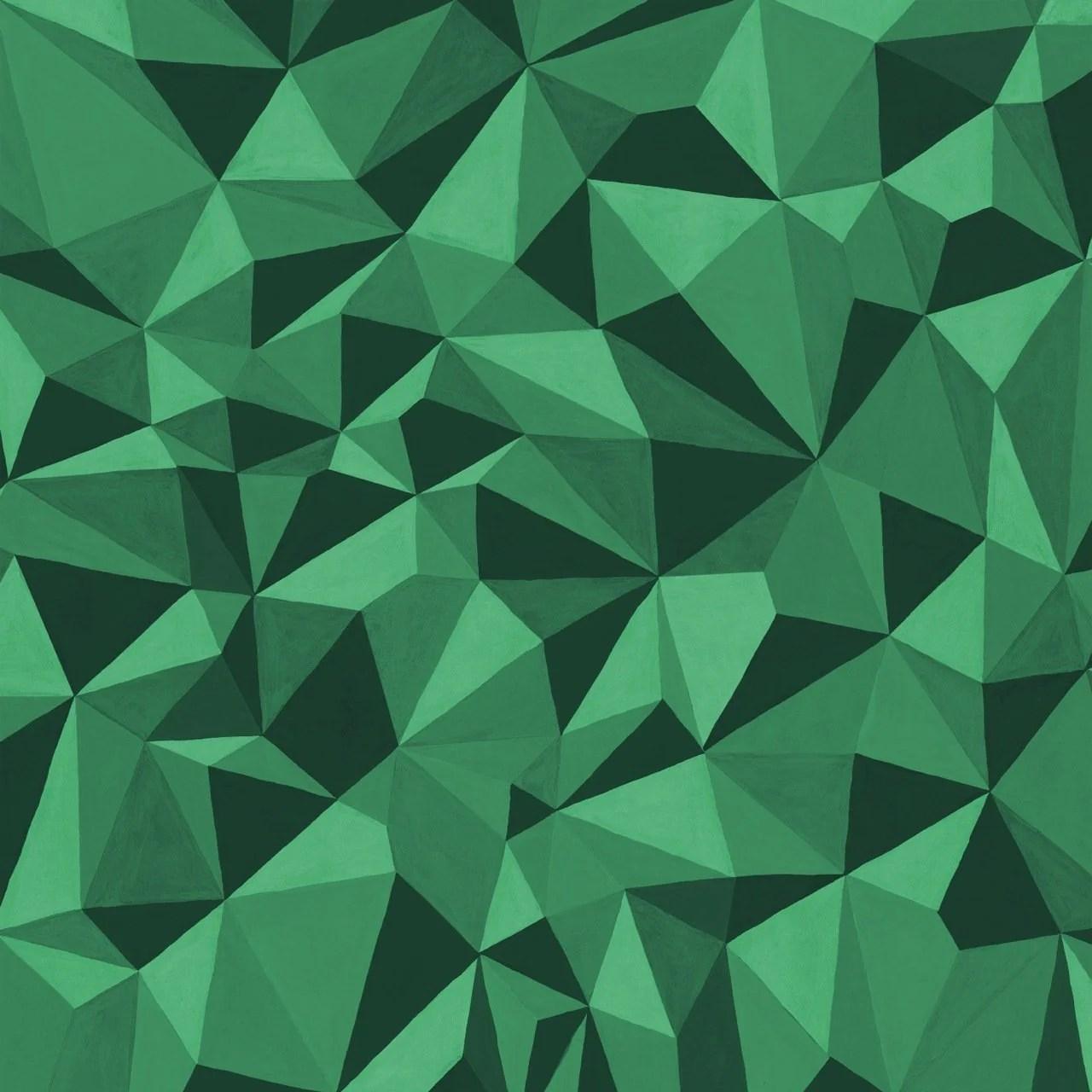Curio Emerald Green 3d Geometric Wallpaper Quartz By Cole And Son
