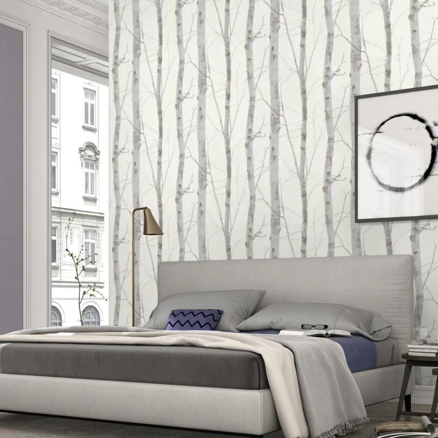 Paradisio White And Grey Birch Tree Wallpaper By Erismann