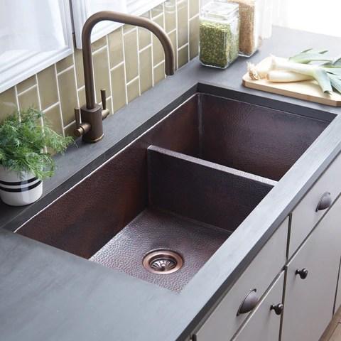 Native Trails Cocina Duet Pro 40 Copper Kitchen Sink 60 40 Double Bo The Sink Boutique
