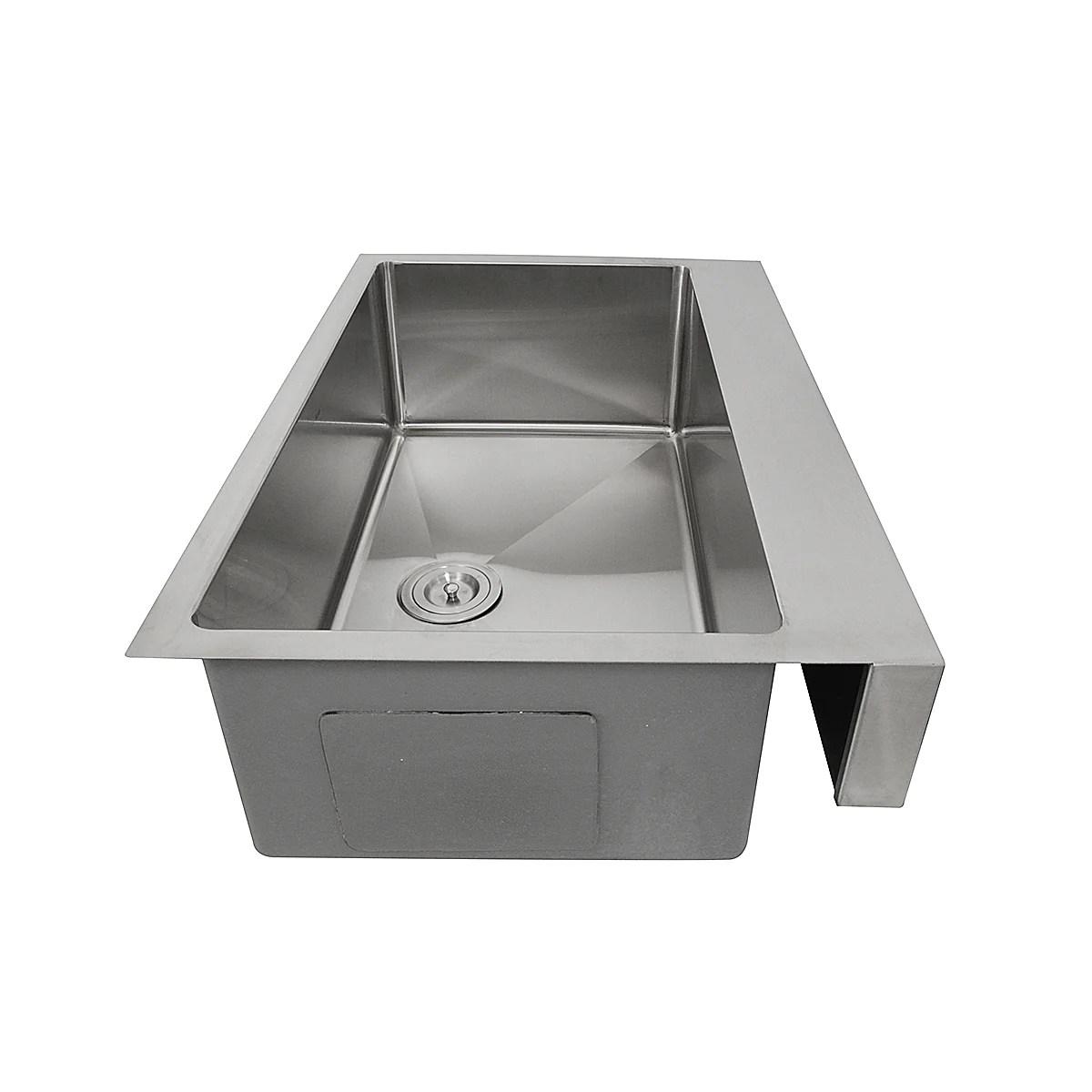nantucket sinks pro series 33 stainless steel retrofit farmhouse sink ezapron33 5 5