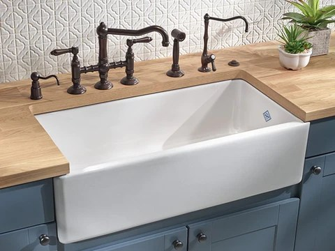Rohl Shaws 36 Fireclay Double Bowl Farmhouse Apron Sink