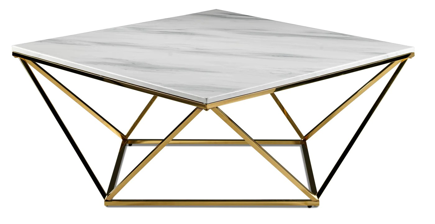 Lynn Coffee Table Marble And Gold Leon S