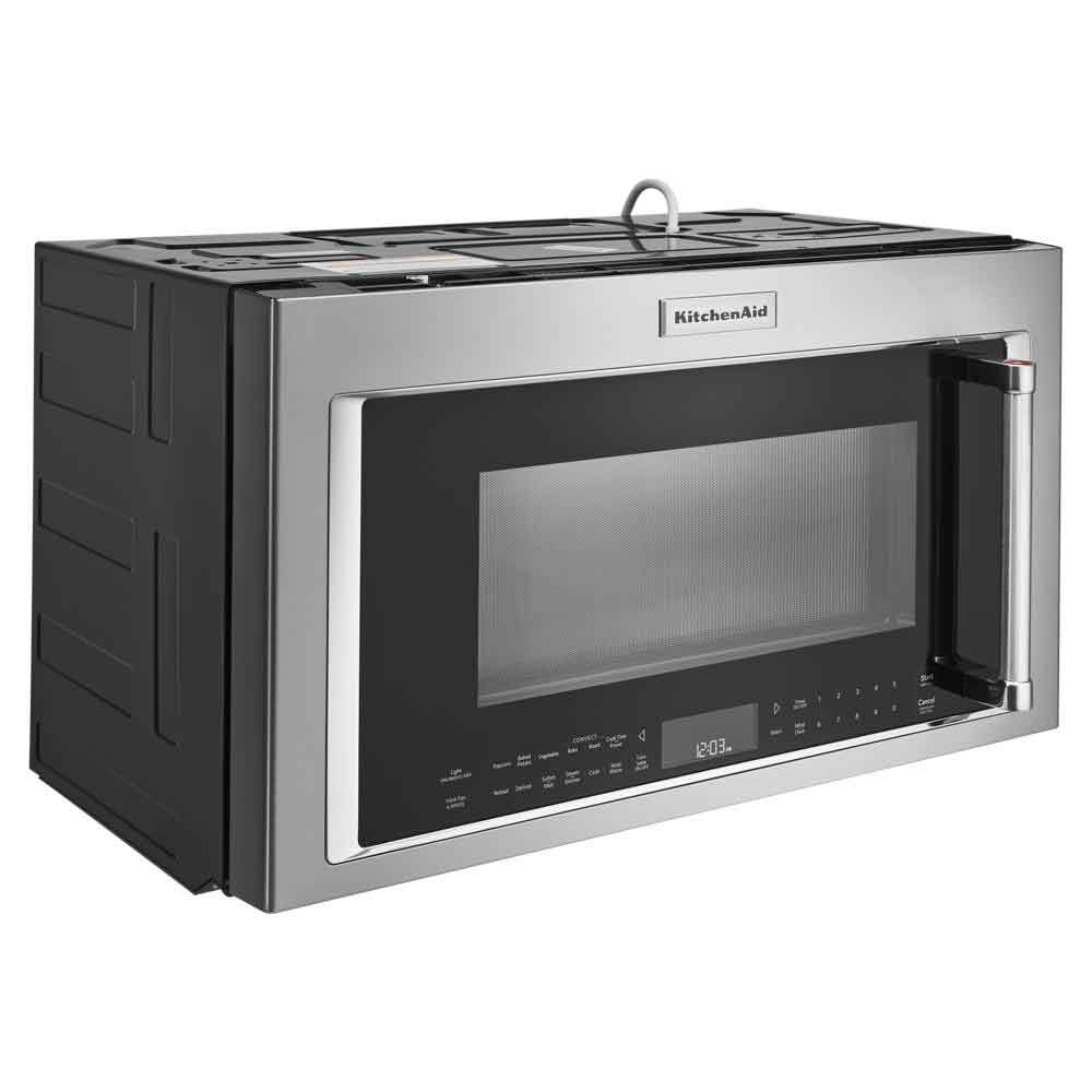 kitchenaid printshield stainless convection microwave hood 1 9 cu ft ykmhc319kps