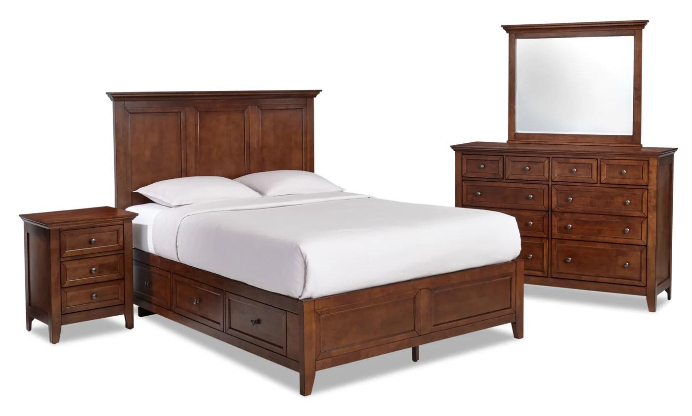 san mateo 7 piece queen bedroom set tuscan