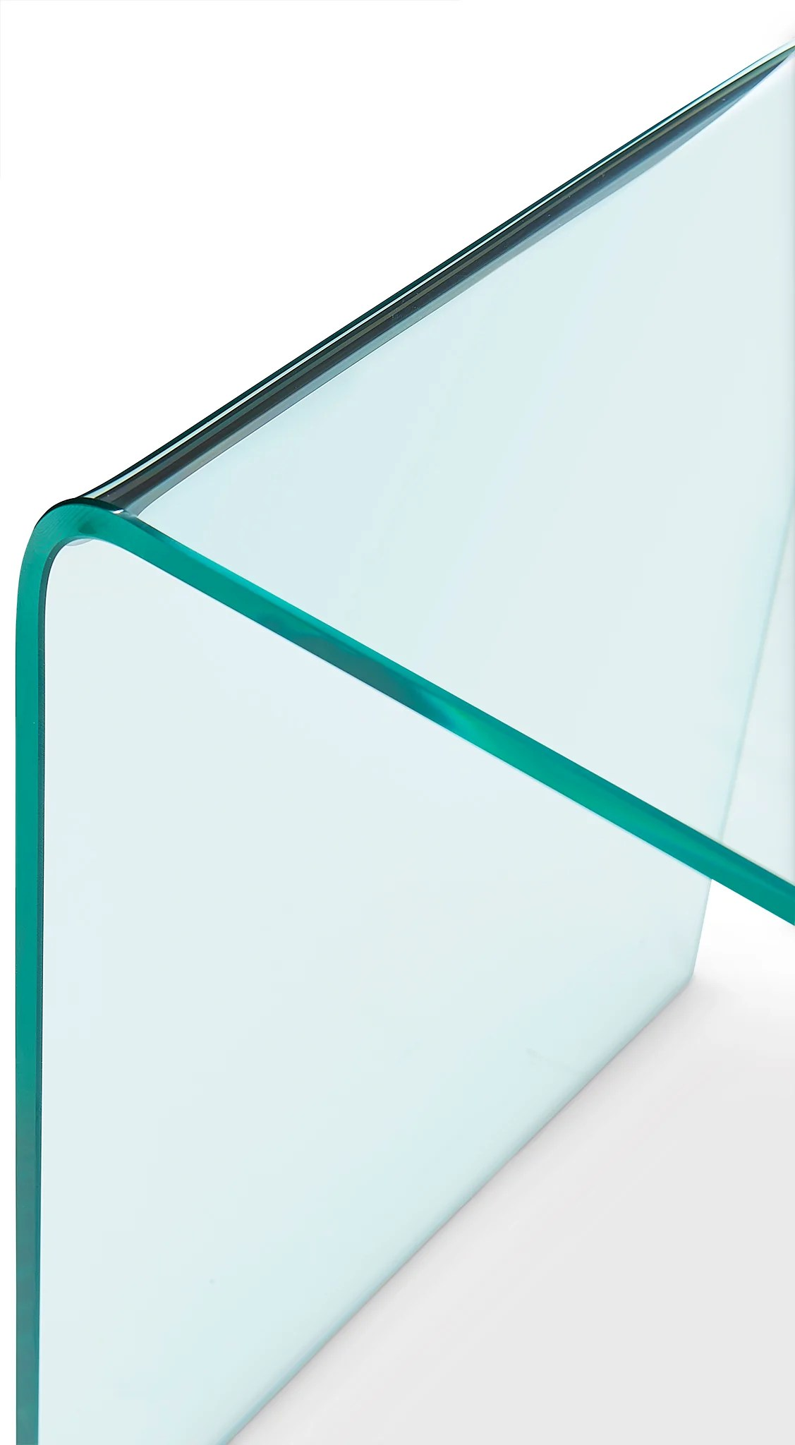 flow ii end table glass