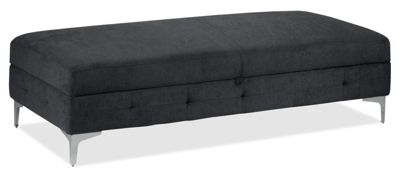 aidhan storage ottoman dark grey