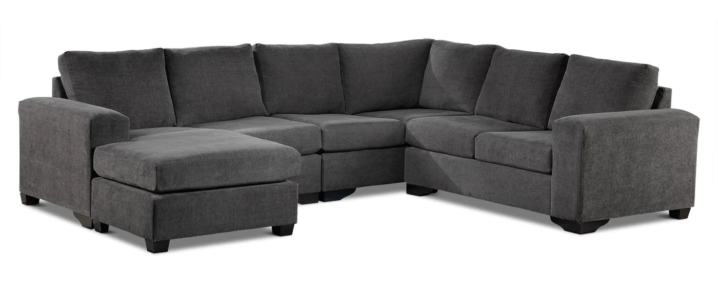 danielle 3 piece sectional with left facing corner wedge grey