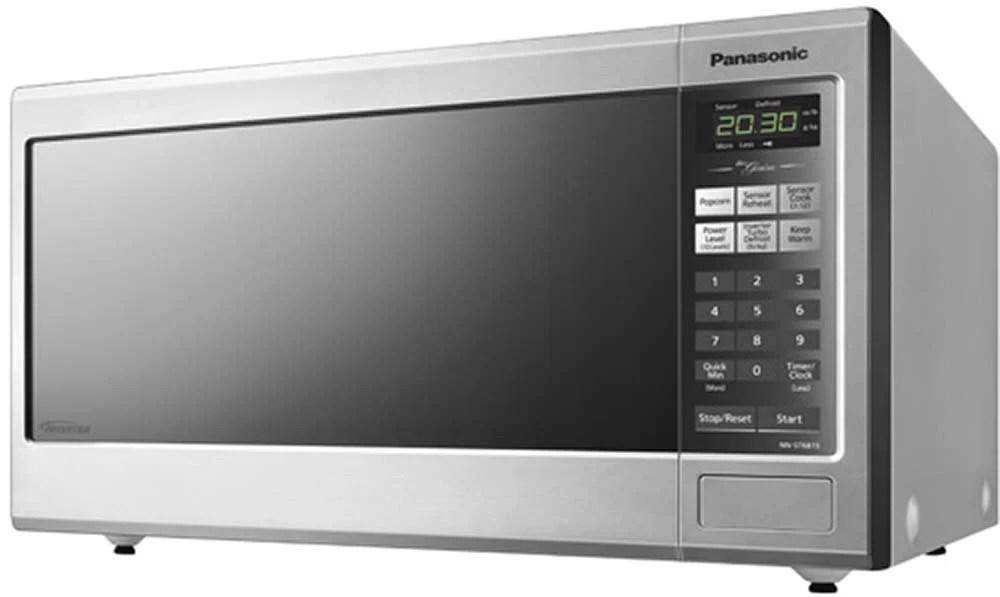 panasonic stainless steel countertop microwave 1 2 cu ft nnst681sc