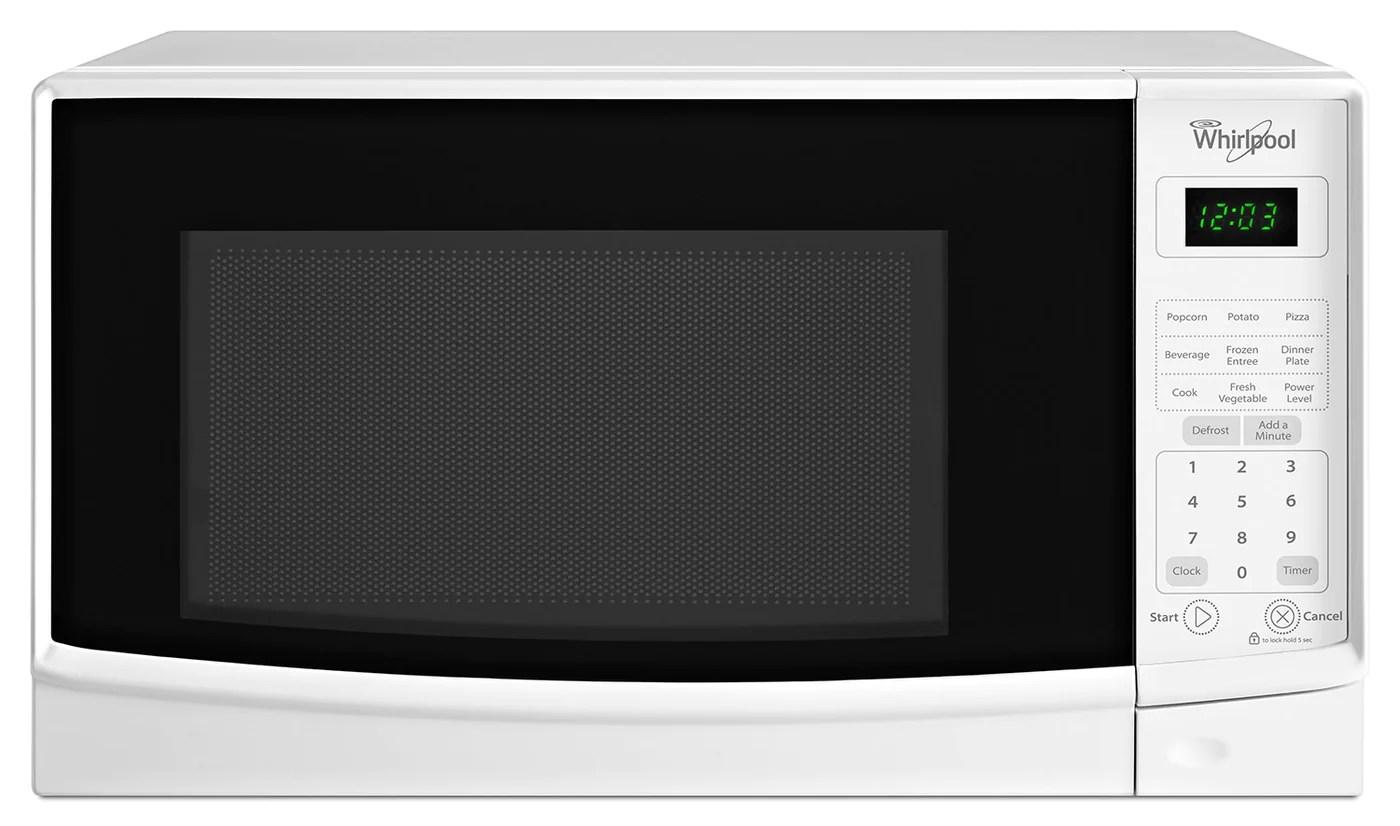whirlpool white microwave 0 7 cu ft wmc10007aw