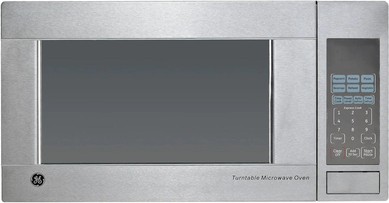 ge stainless steel countertop microwave 1 1 cu ft jes1140stc