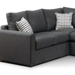 Athina 2 Piece Sectional With Right Facing Queen Sofa Bed Charcoal Leon S