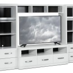 Warner 4 Piece Entertainment Wall Unit White Leon S