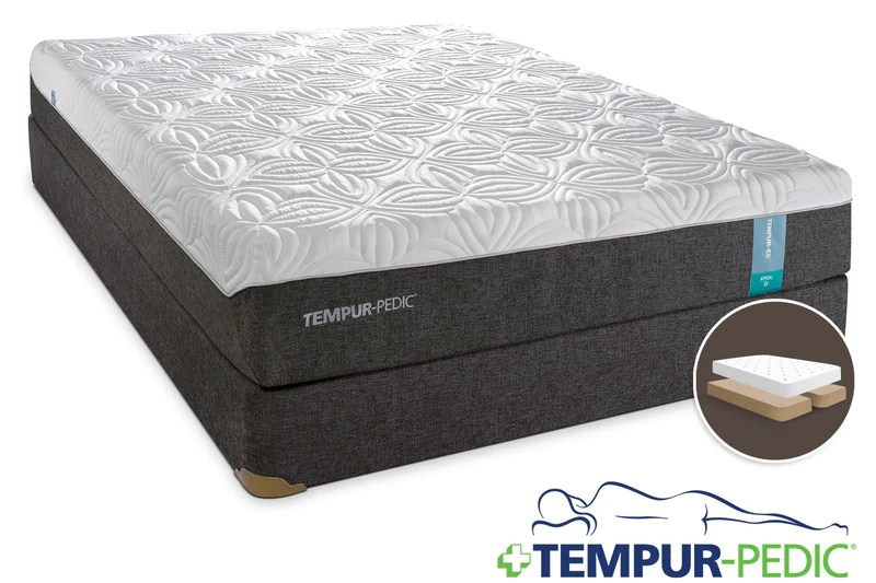 tempur pedic appeal 2 0 cushion firm king mattress and split boxspring set