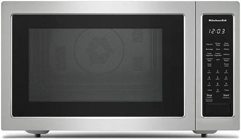 kitchenaid stainless steel countertop microwave 1 5 cu ft kmcc5015gss