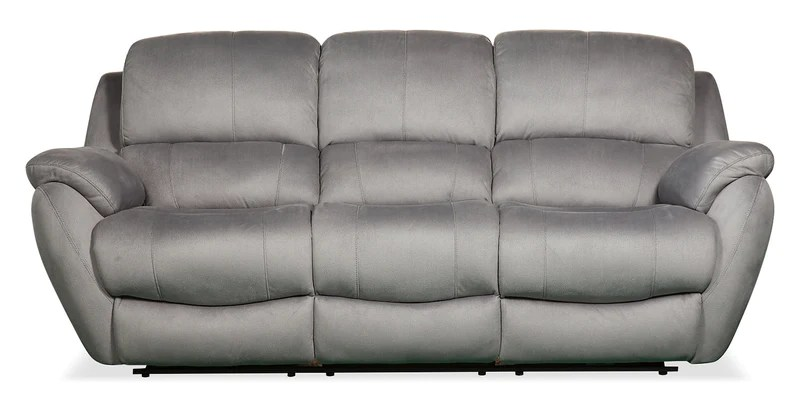 Brody Faux Suede Reclining Sofa Grey Sofa Inclinable