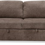 Conor Chenille Full Size Sleeper Sofa Espresso Brown The Brick