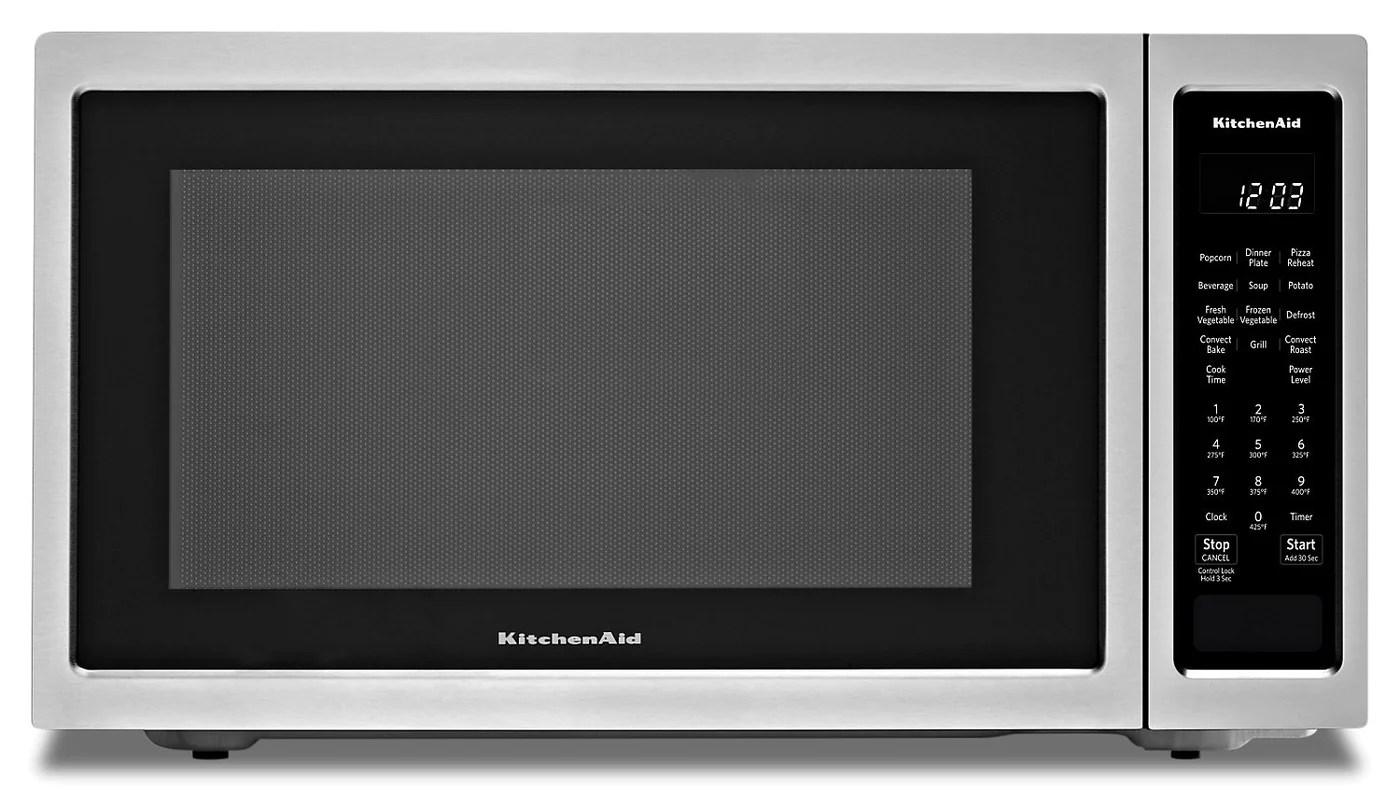 kitchenaid countertop convection microwave oven kmcc5015gss