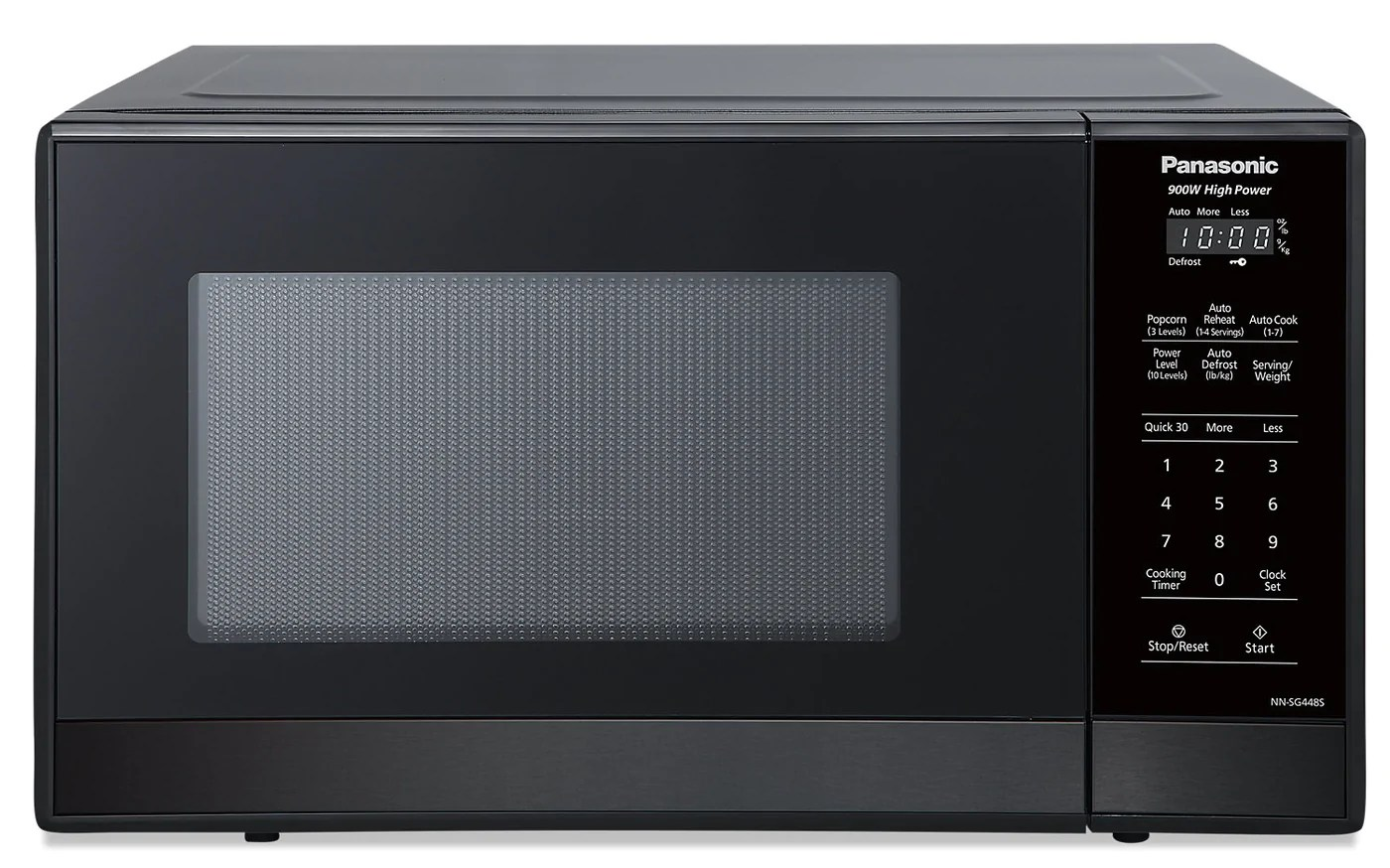 panasonic 0 9 cu ft 900 w compact countertop microwave nnsg448s