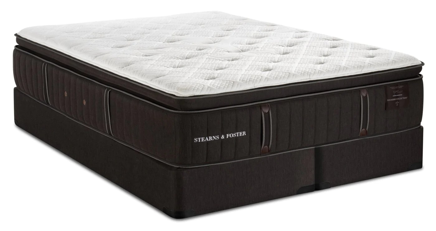 stearns foster founders collection cambridge bay pillowtop king mattress set