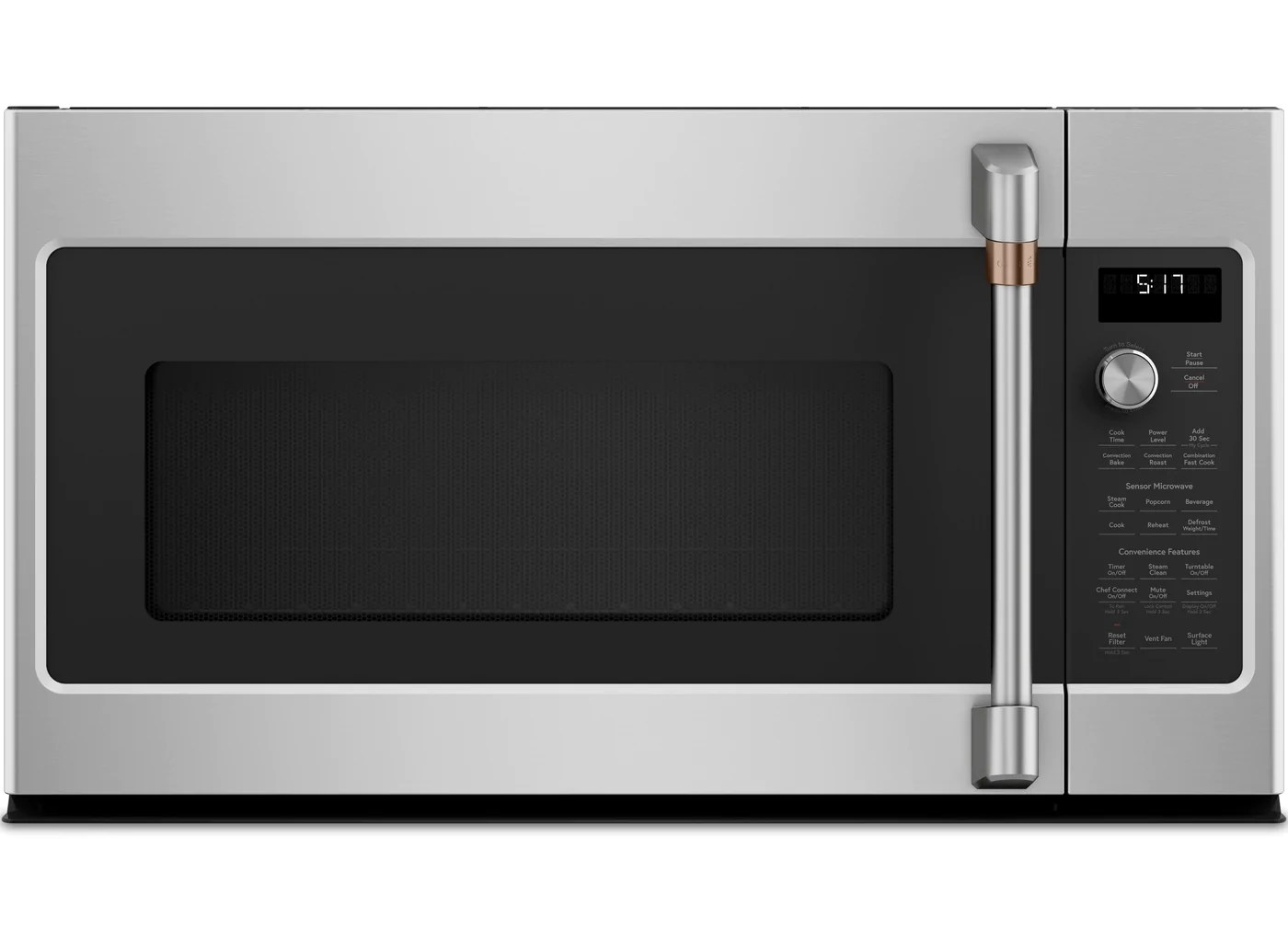 cafe 1 7 cu ft convection over the range microwave oven cvm517p2ms1